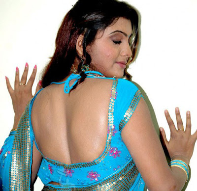 Hot Blouse Back Of Sexy Indian Masala Aunties
