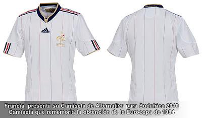 Camiseta de alternativa de Francia contra España