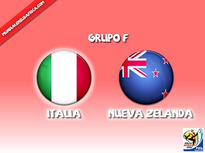 Italia vs Nueva Zelanda Grupo F