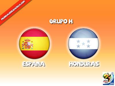 Partido España vs Honduras Grupo H