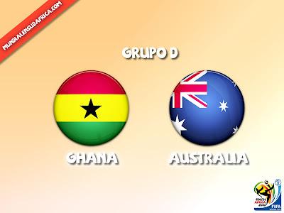Ghana vs Australia Grupo D
