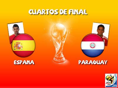 Partido España vs Paraguay Cuartos de Final