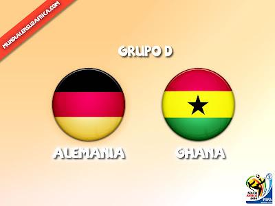 Partido Alemania vs Ghana Grupo D