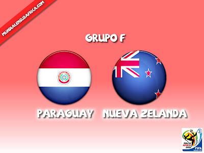 Partido Paraguay vs Nueva Zelanda Grupo F