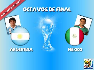 Partido Argentina vs Mexico Octavos de Final