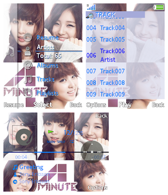 4Minute SonyEricsson手機主題for Elm/Hazel/Yari﹝240x320﹞