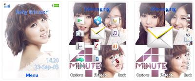 4Minute SonyEricsson手機主題for Elm/Hazel/Yari﹝240x320﹞