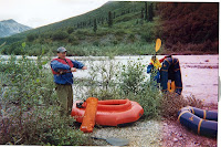 Preparing to packraft the upper Talkeetna River