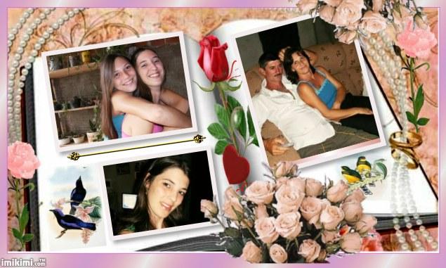 Eu e meu marido e minhas filhas