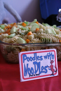 Poodles With Noodles Dr Seuss Party Food