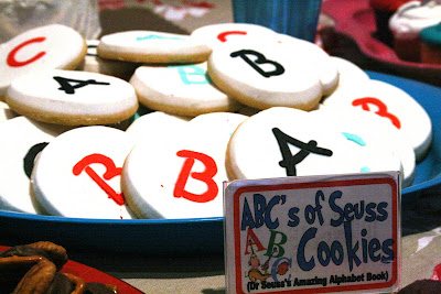 ABCs of Seuss Cookies Dr Seuss Party Food