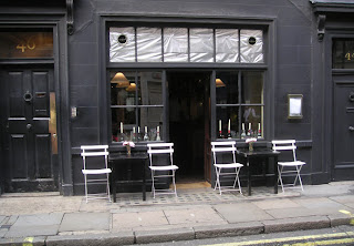 The discreet exterior of Andrew Edmunds, Soho