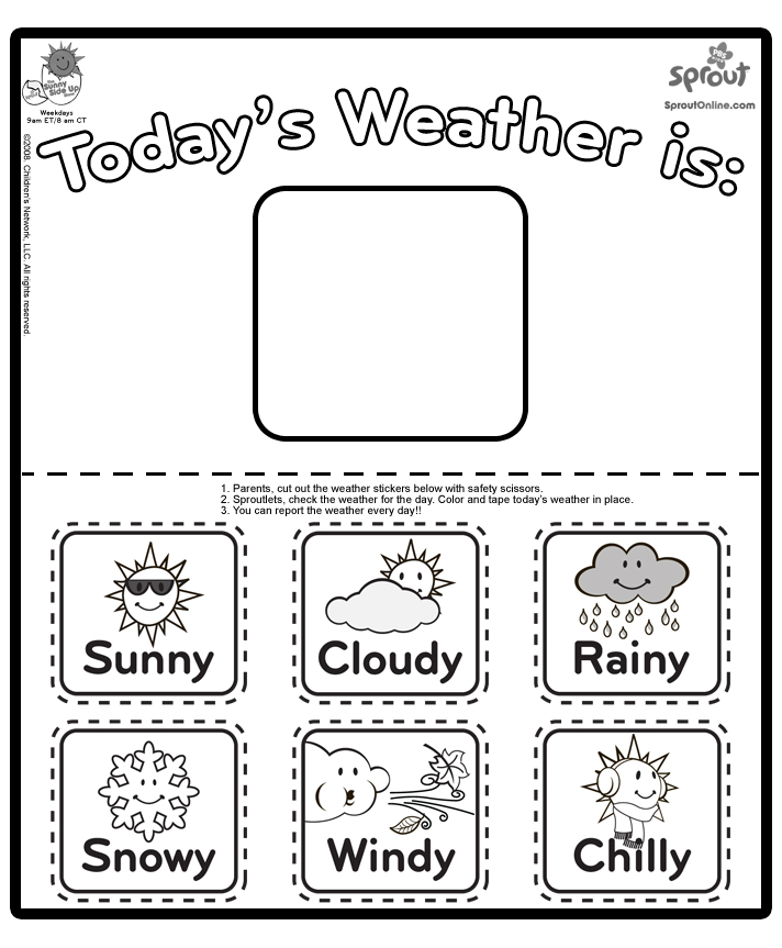 Free Weather Radar Coloring Pages Weather Coloring Page