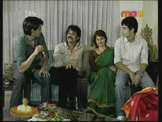Nagarjuna with his sons and wife