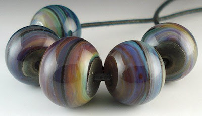 Luna 2 and Silver Plum Beads