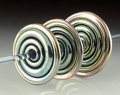 Large Triton Spiral Disk Beads