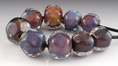Terra encased crystal beads