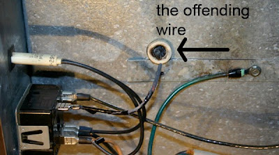 broken kiln wire