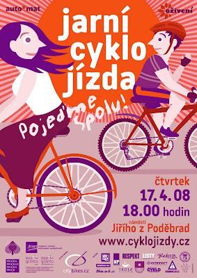 Velká jarní cyklojízda za přívětivější Prahu 2008