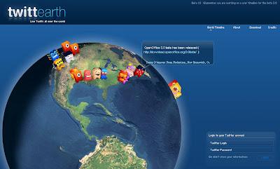 Globe Maps - TwittEarth