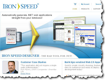 IronSpeed RAD Tool for Web Applications