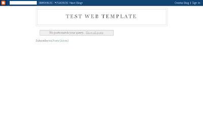 Test Web Template on Blogger.com