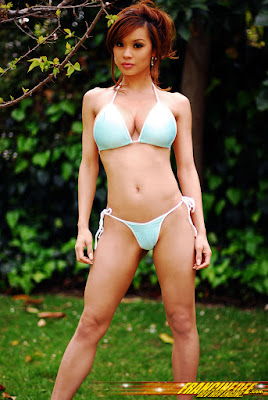 Stunning Aqua Blue Bikini Beach Fashion ,Model, Francine Dee,