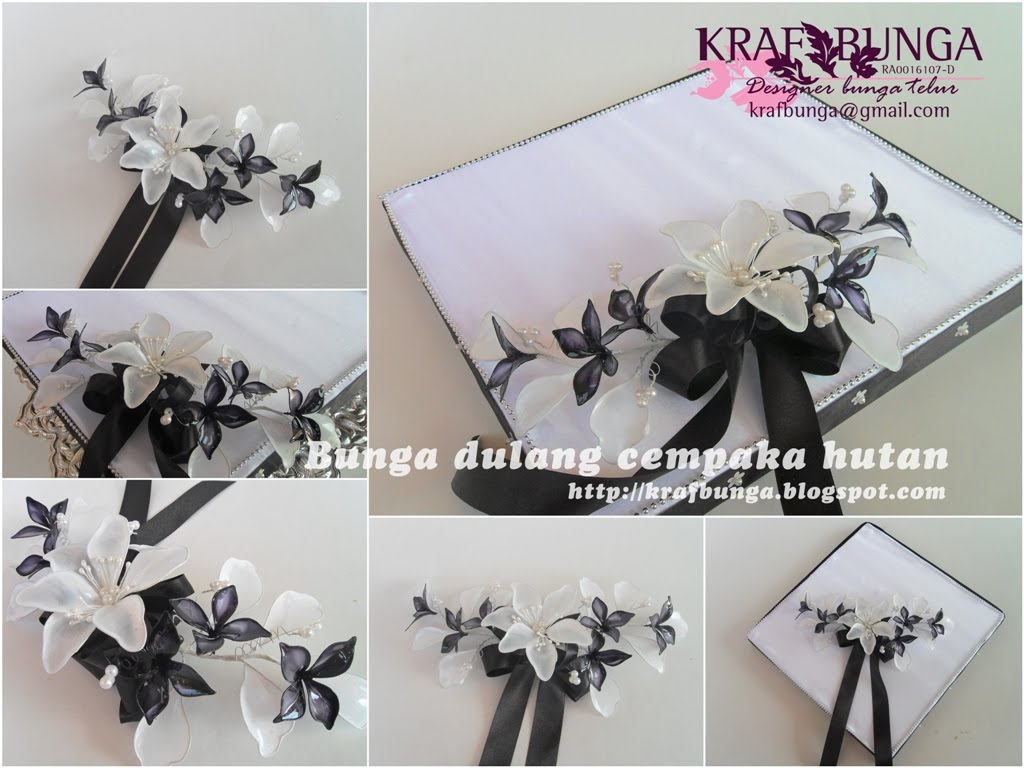Bunga dulang cempaka hutan hitam putih