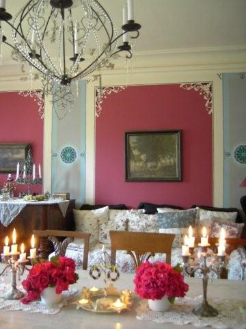 Guests enjoy having a nice meal in our dining room, which is both a cozy and elegant.