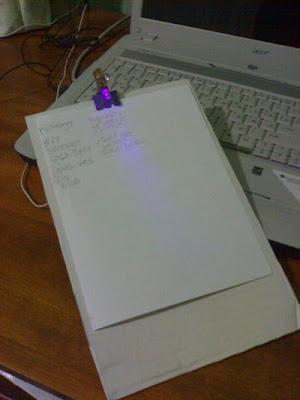 планшет для записей с подсветкой