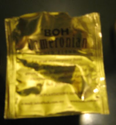 BOH Cameronian Gold Blend teabag packaging