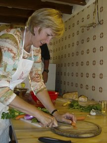 Debi in Florence Cooking School