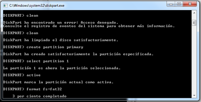 10.- Despues ponemos assign para asignar letra a la USB.