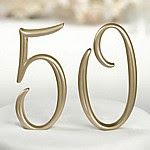 Gold Numbered Cake Topper Picks