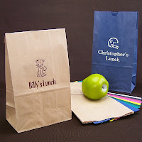 Personalized 6 x 3 x 11 Paper Lunch Bags in Assorted Colors