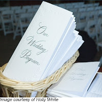 Wedding programs courtesy of Holly White