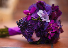 Purple Wedding Bouquet via David Wedding Photography