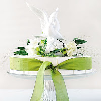 Porcelain White Dove Cake Topper