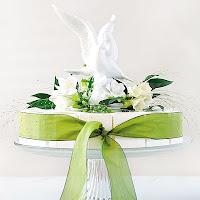 Porcelain White Dove Cake Topper