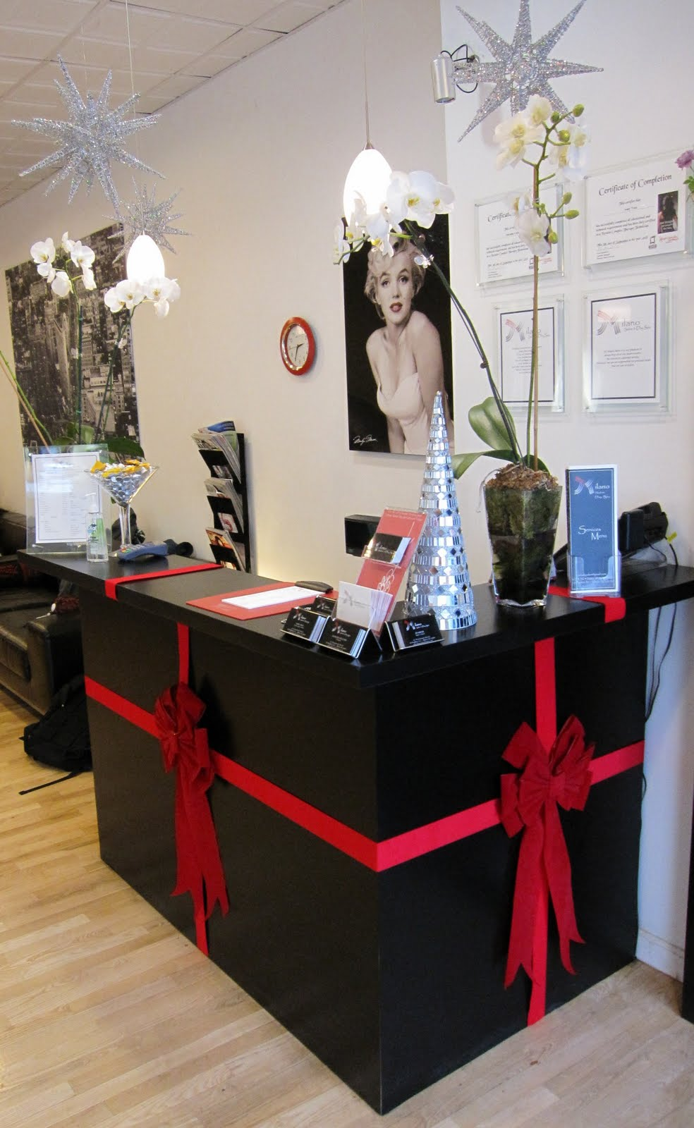 milano salon day spa holiday cheer november 2009