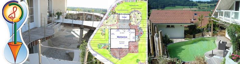 Création paysagère et jardins d'eau.