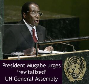 MR ROBERT MUGABE'S ADDRESS TO THE U.N.