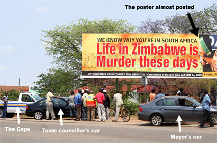 DRAMA AT MUSINA ABOUT THE BILLBOARD!!