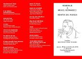 Presentación del recital poético en homenaje a Miguel Hernández (25-11-2010, Facultad de Educación)