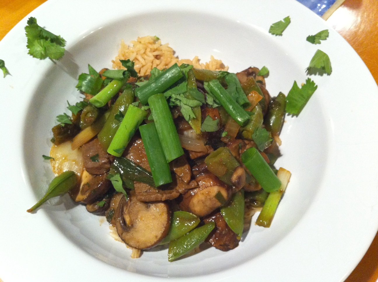 ... : Spicy Beef Tenderloin and Mushroom Stir Fry with Hoisin and Ginger