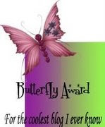Butterfly award from Bev and Nicole