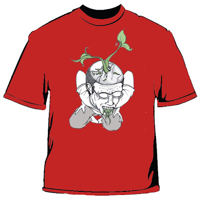 Muntah vegetarian (design baju T Foliage)   OtakKapasitiRendah