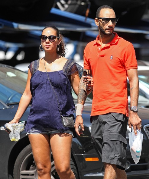 Swizz Beatz Was Spotted With His Pregnant Wife Alicia Keys
