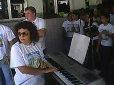 Apresentação do coral Unigente/Unimed no Hospital Arlinda Marques - Regencia de Socorro Estrela