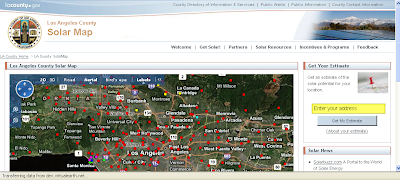 la.solar.map Los angeles county solar map